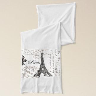 modern vintage Eiffel Tower Scarf