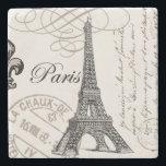 "modern vintage Eiffel Tower Stone Coaster<br><div class=""desc"">modern vintage Eiffel Tower</div>"