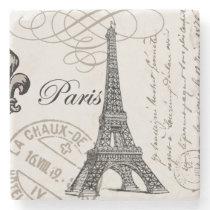 modern vintage Eiffel Tower Stone Coaster
