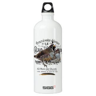 modern vintage fall quail aluminum water bottle