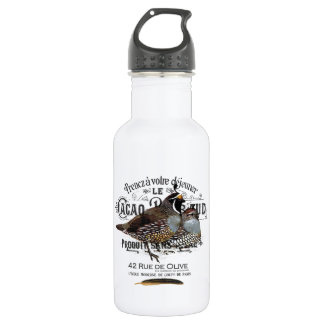 modern vintage fall quail water bottle