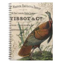 modern vintage fall wild turkey notebook