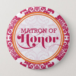 Modern Vintage Filigree Matron of Honor Button