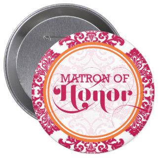 Modern Vintage Filigree Matron of Honor Button