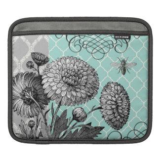 Modern vintage floral iPad sleeve