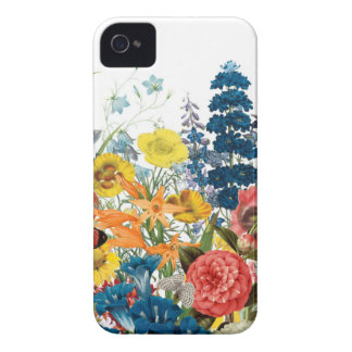 modern vintage flowers iPhone 4 cover