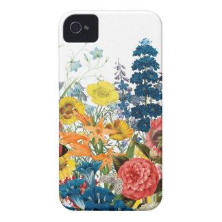 modern vintage flowers Case-Mate iPhone 4 case