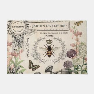 Modern Vintage French Bee garden Doormat