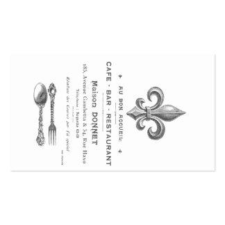 MODERN VINTAGE FRENCH BISTRO BUSINESS CARD