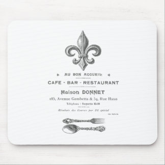 MODERN VINTAGE FRENCH BISTRO MOUSE PAD