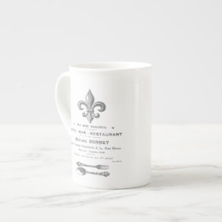 MODERN VINTAGE FRENCH BISTRO TEA CUP