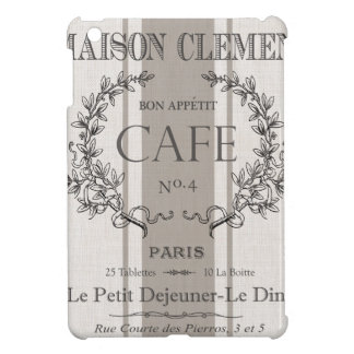 modern vintage french cafe cover for the iPad mini