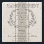 "modern vintage french cafe stone coaster<br><div class=""desc"">modern vintage french cafe</div>"