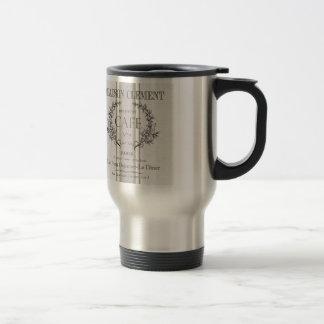 modern vintage french cafe travel mug
