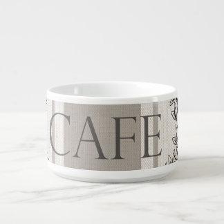 modern vintage french cafe chili bowl