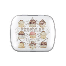 Modern Vintage French Chocolates Candy Tin at Zazzle