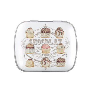 modern vintage french chocolates candy tin