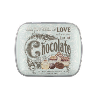 modern vintage french chocolates jelly belly candy tin