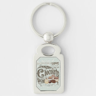 modern vintage french chocolates keychain