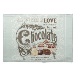 modern vintage french chocolates placemat