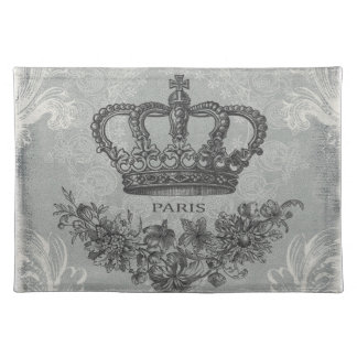 modern vintage french crown cloth place mat