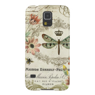 Modern Vintage French Dragonfly Galaxy S5 Case