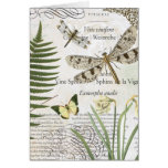 modern vintage french dragonfly greeting card