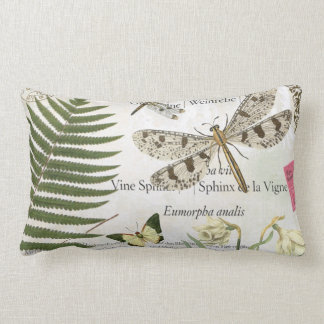 modern vintage french dragonfly lumbar pillow
