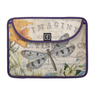 modern vintage french dragonfly sleeves for MacBook pro
