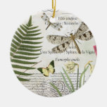 modern vintage french dragonfly christmas tree ornament