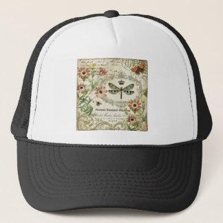 Modern Vintage French Dragonfly Trucker Hat