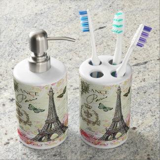 modern vintage french eiffel tower bathroom set