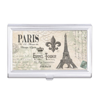 modern vintage french Eiffel Tower Business Card Holder