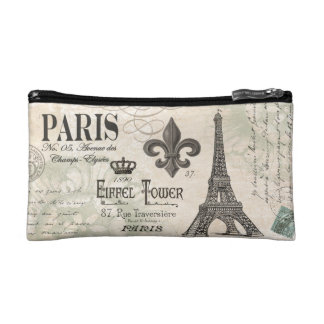 modern vintage french Eiffel Tower Cosmetic Bag