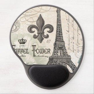 modern vintage french Eiffel Tower Gel Mouse Pad