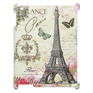 modern vintage french eiffel tower iPad cover
