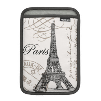 modern vintage french Eiffel Tower Sleeve For iPad Mini