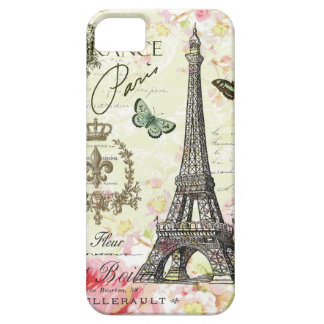 modern vintage french eiffel tower iPhone SE/5/5s case