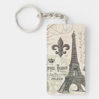 modern vintage french Eiffel Tower Keychain