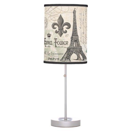 modern vintage french eiffel tower lamp zazzle. Black Bedroom Furniture Sets. Home Design Ideas