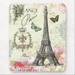 """modern vintage french eiffel tower mouse pad<br><div class=""""desc"""">modern vintage french eiffel tower</div>"""