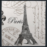 "modern vintage french Eiffel Tower Napkin<br><div class=""desc"">modern vintage french Eiffel Tower</div>"