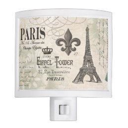 modern vintage french Eiffel Tower Night Light