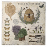 "Modern vintage french farmhouse bee ceramic tile<br><div class=""desc"">Modern vintage french farmhouse bee</div>"