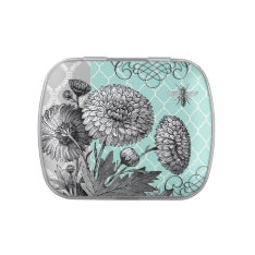 modern vintage  French floral mint tin can Jelly Belly Tins at Zazzle