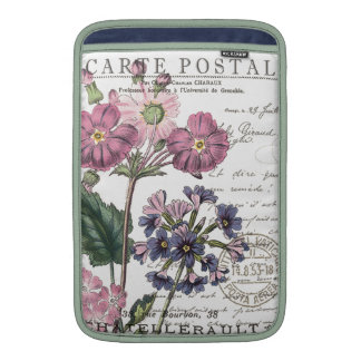 modern vintage french floral sleeve for MacBook air