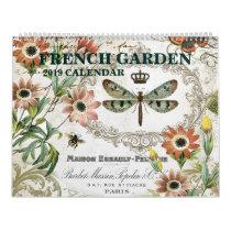 Modern vintage French garden calendar
