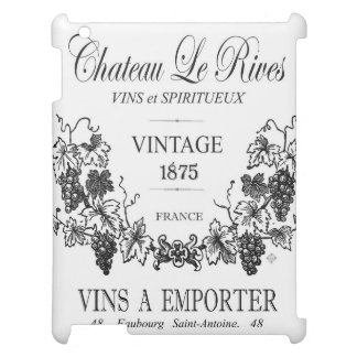 modern vintage french grain sac wine cover for the iPad 2 3 4
