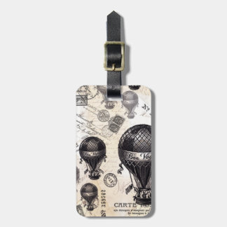 modern vintage French hot air balloons Luggage Tag