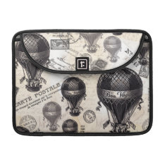 modern vintage French hot air balloons MacBook Pro Sleeve at Zazzle